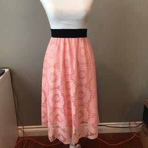 LuLaRoe 3XL Lola Skirt, lace exc condition
